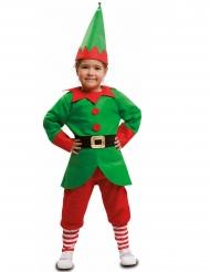 Elfen-Kostüm für Kinder weihnachtliches Kostüm grün-rot