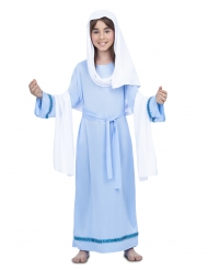 Jungfrau Maria-Kostüm für Mädchen Krippenspiel-Verkleidung blau-weiss