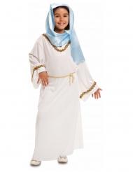 Jungfrau Maria-Kinderkostüm für Mädchen Krippenspiel weiss-blau-goldfarben