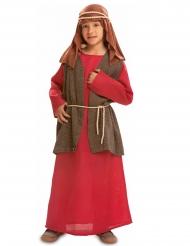 Joseph-Kinderkostüm für Weihnachten Krippenspiel rot-braun