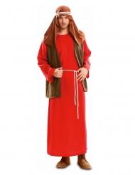 Josef-Kostüm für Herren Krippenspiel-Verkleidung rot-braun-weiss