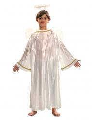 Engelkostüm für Jungen Krippenspiel-Verkleidung weiss-goldfarben