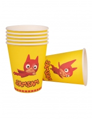 Sam Sam™ Trinkbecher für Kindergeburtstage Partydeko 6 Stück gelb-rot 250 ml