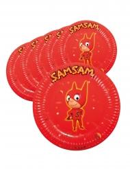 Sam Sam™-Pappteller Partyzubehör für Kindergeburtstage 6 Stück rot 22 cm