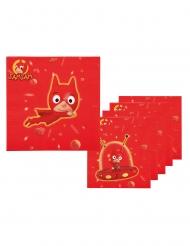 Sam Sam™-Papierservietten für Kindergeburtstage 6 Stück rot 33 x33 cm