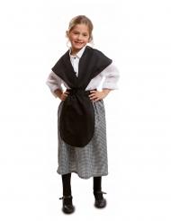 Marktfrau-Damenkostüm Kastanien-Verkäuferin schwarz-weiss
