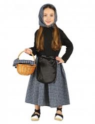 Magd-Kostüm für Mädchen dunkelblau-schwarz