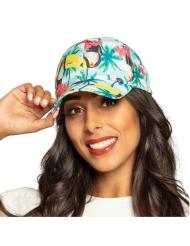 Baseball-Mütze sommerliche-Kopfbedeckung mit Tukan-Vogel bunt