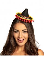Miniatur-Sombrero Accessoire Hut für Damen bunt