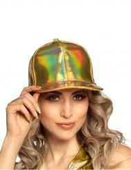 Baseball-Mütze Accessoire für Damen schimmernd goldfarben