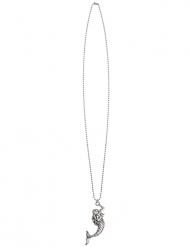 Filigrane Meerjungfrauen-Halskette für Fasching silberfarben
