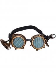 Stilvolle Steampunk-Brille Accessoire für Erwachsene braun-schwarz