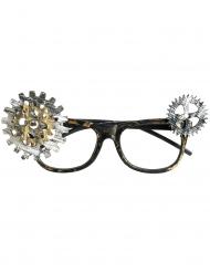 Nerdbrille mit Zahnrädern Kostüm-Zubehör für Erwachsene