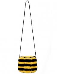 Lustige Bienen-Handtasche für Fasching Kostümzubehör schwarz-gelb