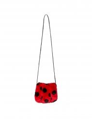 Süße Marienkäfer-Tasche mit Reißverschluss Faschings-Accessoire rot-schwarz