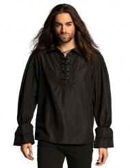 Klassisches Piratenhemd für Herren Kostüm-Zubehör schwarz