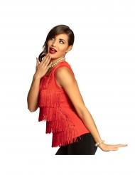 Glamouröses Fransen-Top für Damen Kostümzubehör rot