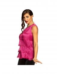 Festliches Fransen-Top für Damen Kostüm-Zubehör pink