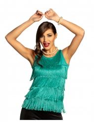 Stilvolles Fransen-Oberteil für Damen Kostümzubehör türkis