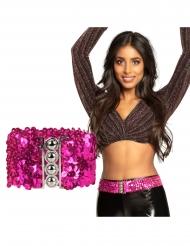 Pailletten-Glitzer-Gürtel für Damen Kostüm-Accessoire pink