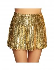 Glamouröser Paillettenrock für Damen Kostümzubehör goldfarben