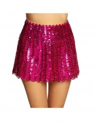 Funkelnder Pailletten-Rock für Damen Kostümzubehör pink
