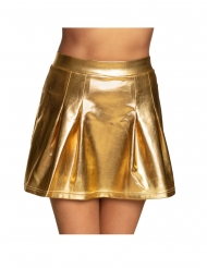 Faltenrock Kostüm-Zubehör für Damen Mini-Rock goldfarben