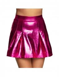 Stilvoller Faltenrock für Damen Kostüm-Zubehör pink