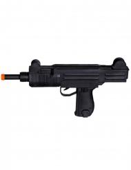Spielzeug-Maschinengewehr für Karneval Zubehör schwarz-orange