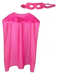 Helden-Accessoire-Set Kostüm-Zubehör für Superhelden pink