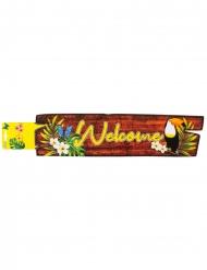 Tukan-Banner Welcome Partydeko bunt 60x13 cm