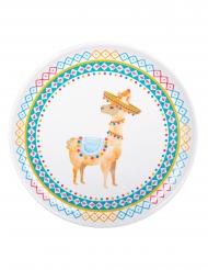 Lama-Teller Party-Tischzubehör für Festlichkeiten bunt 34,5 cm