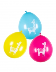 Witzige Lama-Luftballons Partydeko 6 Stück bunt 25 cm