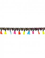 Mexikanische Girlande mit Tasseln Partydeko bunt 2 m