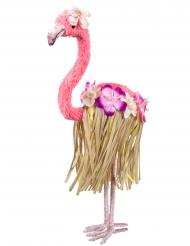 Flamingo-Dekoration Sommerparty-Deko rosa-braun 35x16 cm