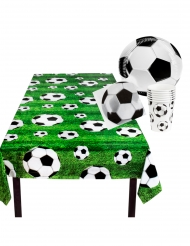 Einweggeschirr-Set für Fußball-Fans 25-teilig grün-schwarz-weiss