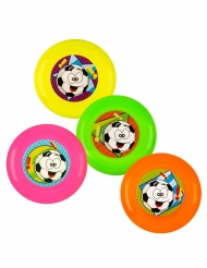 Mini-Frisbees Piñata-Spielzeug 4 Stück bunt 9 cm