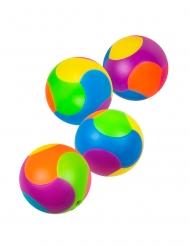 Puzzle-Bälle Partyzubehör Spielzeug für Kinder 4 Stück bunt 3 cm