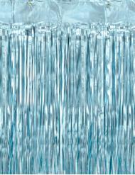 Schimmernder Fransen-Vorhang Partydeko blau 90 x 250 cm