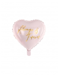 Aluminium-Ballon in Herzform Always & Forever roséfarben 45 cm