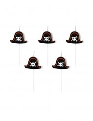 Piraten-Kerzen Pirat-Geburtstag-Deko 5 Stück 2 cm