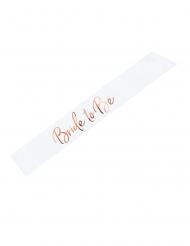 Schärpe für eine angehende Braut JGA-Accessoire weiss-roségold 75 cm