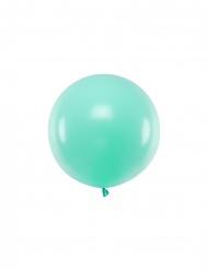 Grosser Luftballon rund Partydeko hellblau 60 cm