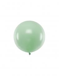 Grosser Luftballon rund Partydeko mintgrün 60 cm