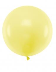 Grosser Luftballon rund Partydeko gelb 60 cm