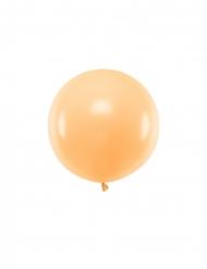 Riesiger Luftballon rund Partydeko pfirsichfarben 60 cm