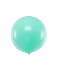 Übergroßer Luftballon Partydekoration für Festlichkeiten pastellfarben mint 1 m