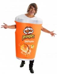Paprika Pringles™-Kostüm für Erwachsene Karnevals-Verkleidung orange-weiss