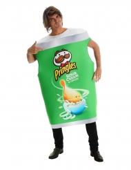 Pringles™-Dose Sour Cream & Onion Kostüm für Erwachsene grün-weiss
