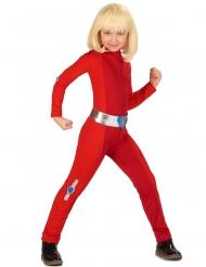 Super Spionin Kinderkostüm für Fasching rot-silberfarben